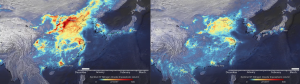 Video excerpts showing the drop in nitrogen dioxide emissions over China from Dec 2019 to Mar 2020. (European Space Agency)